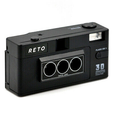 Reto 3D Classic Triple Lens 35mm Film Camera Wiggle the Moment Built in Flash