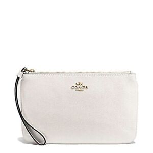 COACH wristlet leather white bag