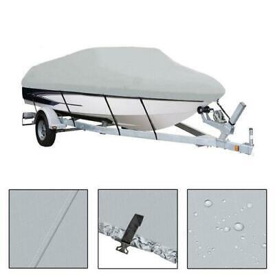 16-18FT Trailerable Fish Ski Boat Cover 600D Waterproof V-Hull Beam 95