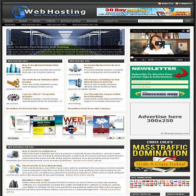 Established Web Hosting Affiliate Website Turnkey Business Free Hosting