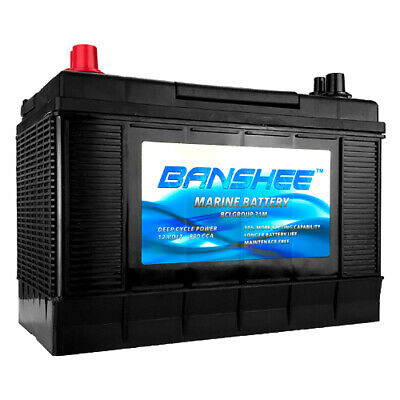 Group 31 Marine Battery - Marine Deep Cycle Battery - Maintenance-Free Battery Marine Deep Cycle