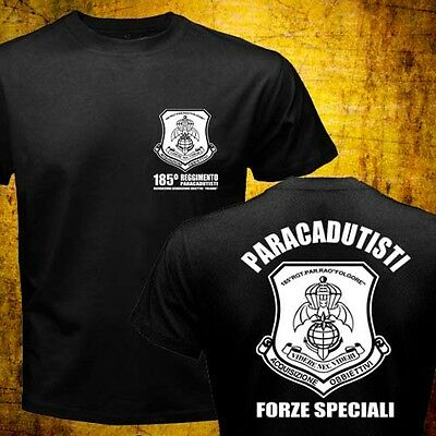 - New Italian Army Special Forces 185th Paratroopers Paracadutisti Folgore T-shirt