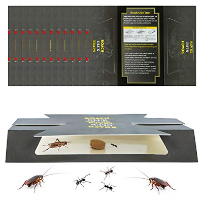 Dwcom 24 Pack Insect Trap Roach Killer, Bed Bugs Spiders Cockroach Traps - $11.91