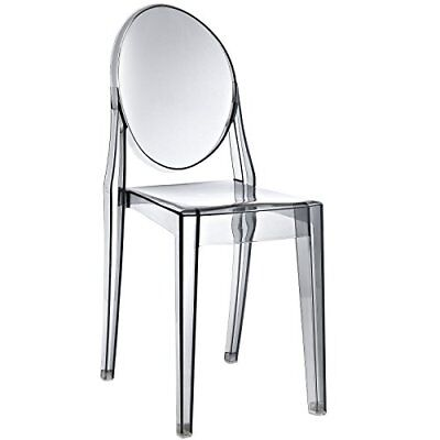 Modway Casper Modern Acrylic Dining Side Chair in Smoked Clear