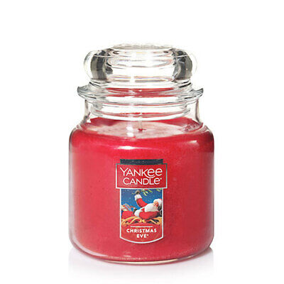 ☆☆CHRISTMAS EVE☆☆YANKEE CANDLE MEDIUM JAR☆☆CHRISTMAS & HOLIDAY SCENT