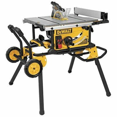 DeWALT DWE7491RS 10-Inch Jobsite Table Saw with 32-1/2-Inch Rip W/ Rolling Stand