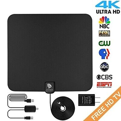 Digital HD Indoor TV Antenna - Best TV Antennas 50 Plus Miles Long