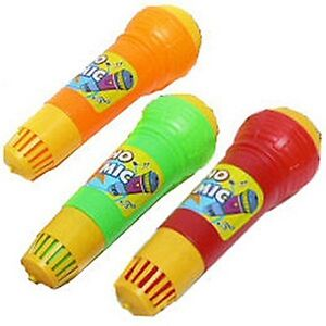 Plastic-Echo-Microphone-Mic-Built-in-Music-Kids-Toy-Pretend-Play-Applause-Sound