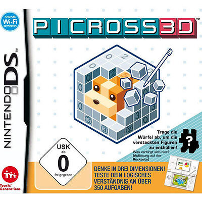 Nintendo 3DS Dual Screen Spiel ***** Picross 3D - Round 2 ************NEU*NEW*55