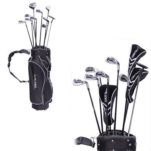 set da golf 10 mazze + 3 fodere coprimazze ferri + borsa