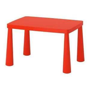 IKEA Mammut table in red