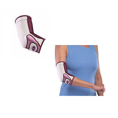 Mueller Life Care Contour Elbow Support Sleeve   Plum   Small
