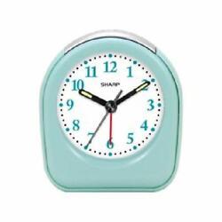 Sharp Quartz Analog Mint Ascending Alarm Clock Battery Operated from US Seller