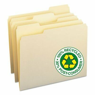 Smead 100 Recycled File Folders 13 Cut Top Tab Manila 100box Smd10339