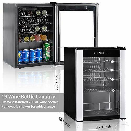 SMAD 19 Bottle Wine Cooler Chiller Cellar Refrigerator Mini
