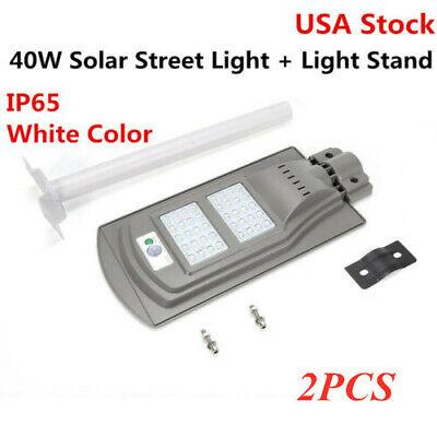 2PCS Waterproof LED Solar-powered Light Street Road Light+Light Arm Best