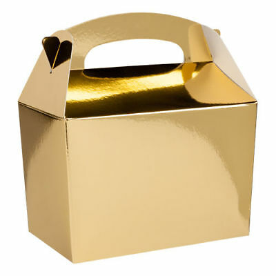 Gold Party Box - Great for Baby Showers, Gift Box, Wedding Favours, Parties