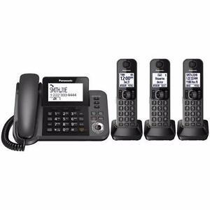 Système téléphonique filaire 6.0 DECT avec 3 combinés sans fil Panasonic ( KX-TG133C )