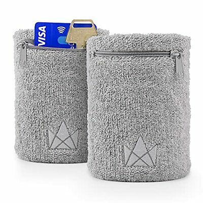 The Friendly Swede Sweatband for Men and Women -Wristband Pocket with Zipper...