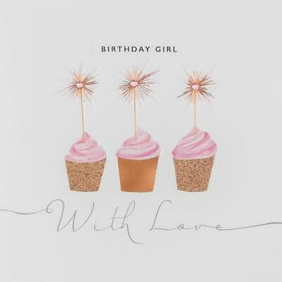 JANIE WILSON COPPER LEAF CARD: BIRTHDAY GIRL WITH LOVE - NEW IN CELLO (CLE08)