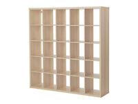 IKEA Kallax shelving in beech 182x182 cm 5 shelves