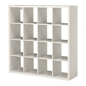 White kallax IKEA shelf, 4x4