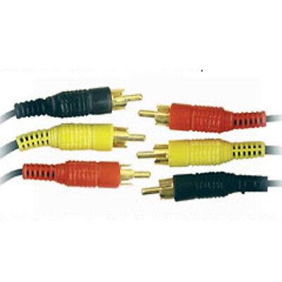 GE182 Triple 3x RCA Cable Oro Phono Audio Video plomo 15 m