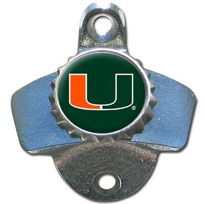 - Miami Hurricanes Wall Mount Metal Bottle Opener NCAA Pub Bar Kitchen College