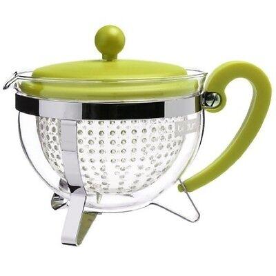 Bodum Chambord 8 Cup 1.0L Teapot 34oz Filter Brew Leaf Green Herbal Tea