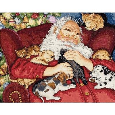 Dimensions Gold Collection Santa's Nap Counted Cross Stitch Kit - 435156