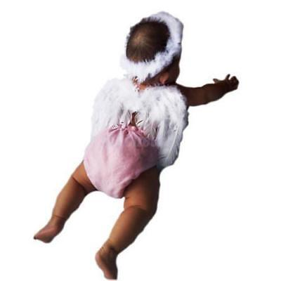 Baby Angel Wings (Baby Newborn Angel Feather Wings Fairy Toddler Photo Photography Props Halo)
