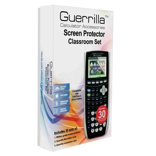 Guerrilla Ti84 Plus C Graphing Calculator Screen Protector Set of 30 + 30 Bonus