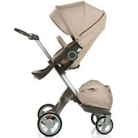 Stokke Xplory Stroller fully loaded with accessories
