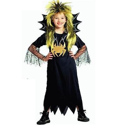 Spider Girl Mädchen Spinnen Kostüm Hexe Vampir Kleid mit Gürtel - Mädchen Kostüm Spider