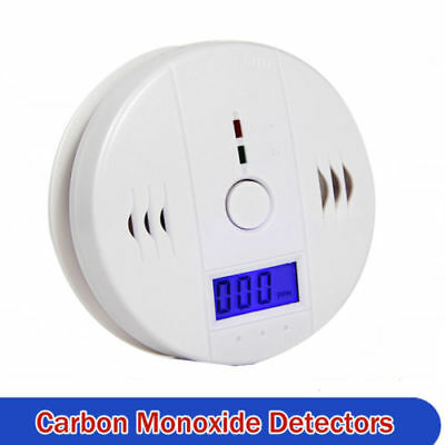 CO Carbon Monoxide Detector Poisoning Gas LCD Alarm LED Sensor for Home Security