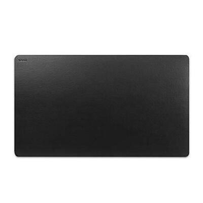 Nekmit Leather Desk Blotter Pad 36 X 20 Inches Waterproof Non-slip Black