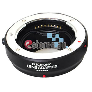 Auto Focus Electronic AF Lens Adapter For 4/3 Lens to Olympus Micro 4/3 M 4/3