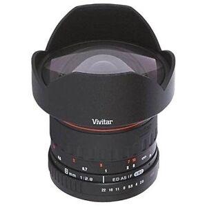 Vivitar 8mm f/3.5 HD Aspherical Fisheye Lens