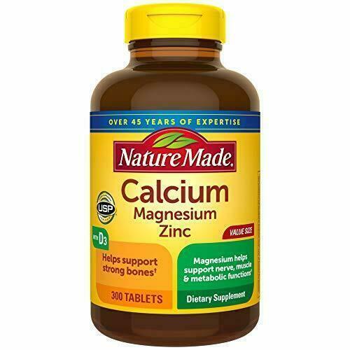 Nature Made Calcium Magnesium Oxide Zinc D3 Tablets 300 Count EXP 11/22-12/22
