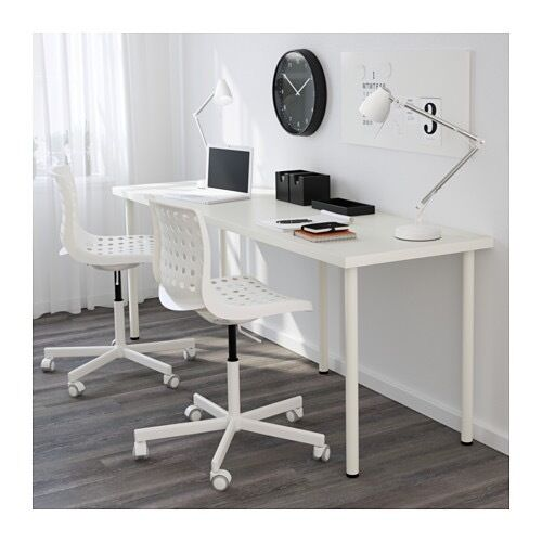 double long ikea table for work home office adils linnmon in headingley west yorkshire gumtree. Black Bedroom Furniture Sets. Home Design Ideas