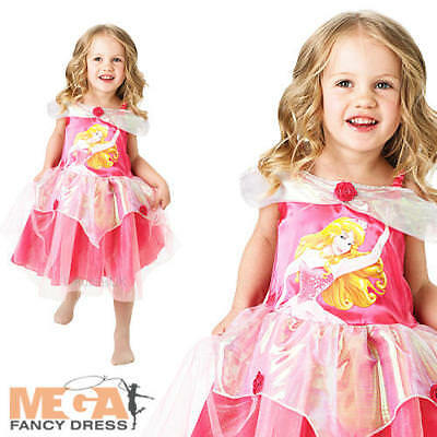 Sleeping Beauty Ballerina Aurora Fancy Dress Girls Disney Princess Kids Costume