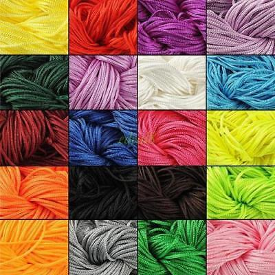 27m Multi-color Chinese Knot Silk Macrame Beading Jewelry Rattail Cords Thread