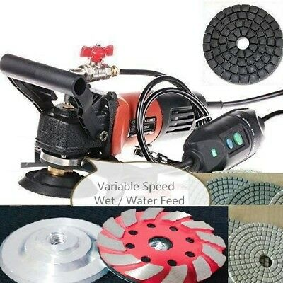 Wet Polisher Grinder 25 Granite Stone Polishing Pad Cup Free Ship Canada Europe