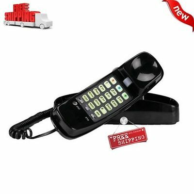 AT&T Corded Home Desk Wall Mount Landline Phone Telephone Handset Call Black NEW