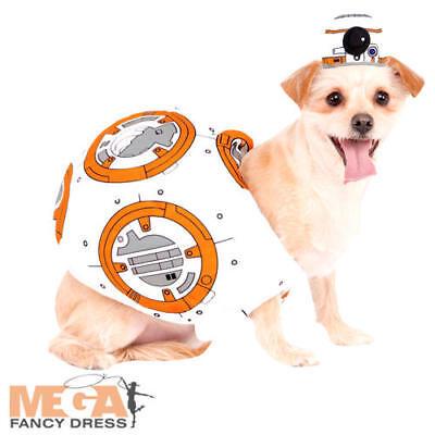 BB-8 Dog Fancy Dress Star Wars Sci Fi Movie Robot Animal Halloween Pets Costume