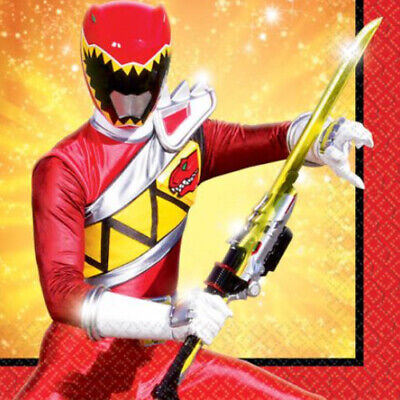 POWER RANGERS Dino Charge SMALL NAPKINS (16) ~ Birthday Party Supplies Serviette ()
