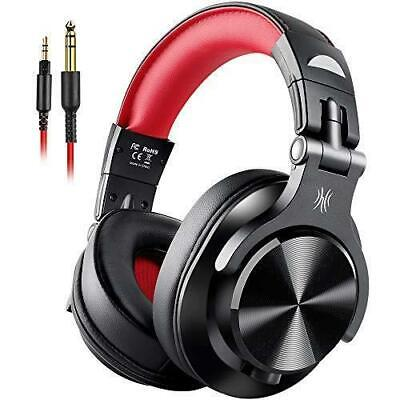 BEST Fusion Wired Over Ear Headphones Studio DJ with Share-Port Professional