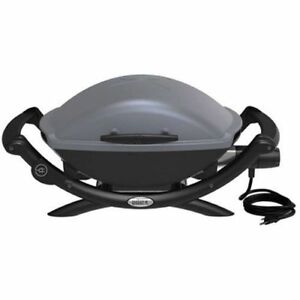 weber q2400 electric portable grill 55020001 dark gray ebay. Black Bedroom Furniture Sets. Home Design Ideas
