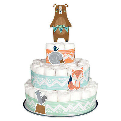 BABY SHOWER Bear-ly Wait DIAPER CAKE KIT ~ Party Supplies Table Decoration Blue - Diaper Cake Supplies