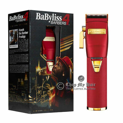 BaByliss PRO Cordless Clipper Influence Line Limit Edition Red & Gold FX870R